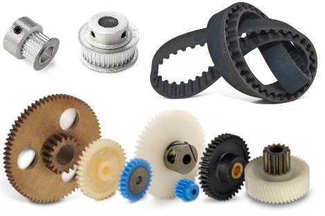 Gear, Pulley, Belts, pipe