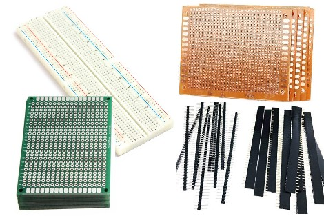 PCB,Breadboard, Headers