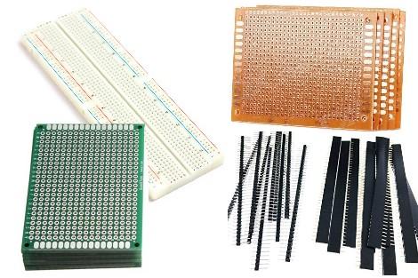 PCB,Breadboard, Headers